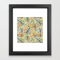 Summer Tropical Leaves Framed Art Print