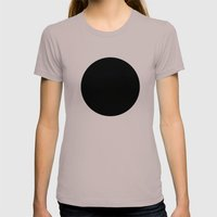 Black Circle Womens Fitted Tee Cinder SMALL