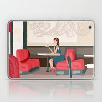 Sipping Green Tea At The… Laptop & iPad Skin
