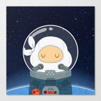Space Ninja Canvas Print