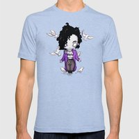 When Doves Cry Mens Fitted Tee Tri-Blue SMALL