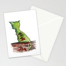 Reflective Zombie Cat Stationery Cards