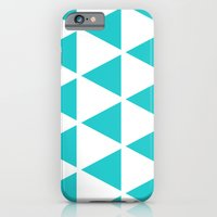 iPhone & iPod Case featuring Sleyer Blue on White Pattern by Stoflab