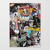 TROUBLE COLLAGE Canvas Print