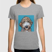 Seamus the Labradoodle Womens Fitted Tee Tri-Grey SMALL