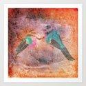 2 birds Art Print