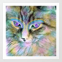 Circus Cat Art Print