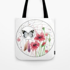 Dreamcatcher No. 2 - Butterfly Illustration Tote Bag