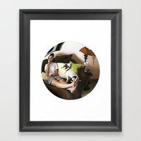 3:58 PM Framed Art Print