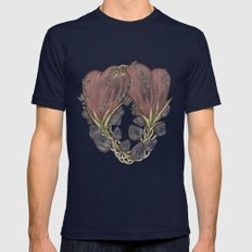 Love Grows Mens Fitted Tee Navy SMALL