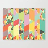Pastel City Canvas Print