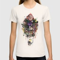 Fauna And Flora Womens Fitted Tee Natural SMALL