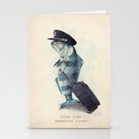 fish Stationery Cards featuring The Pilot by Eric Fan