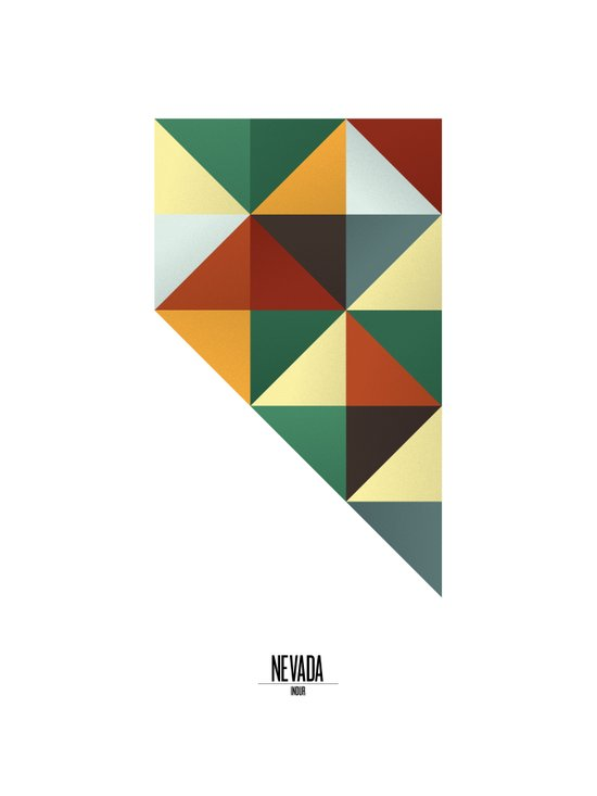 Geometric Nevada Art Print