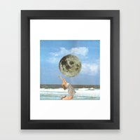 Little Luna At The Beach Framed Art Print