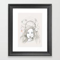 Down And Down And Down Framed Art Print