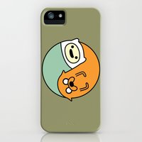 iPhone 5s & iPhone 5 Cases featuring Adventure Time Yin-Yang / Jake-Finn by Gerald Briones