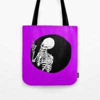 Skeleton Wink Tote Bag