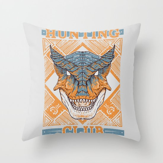 Hunting Club: Tigrex Throw Pillow