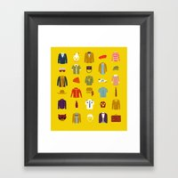 W.A Luggage Framed Art Print
