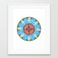 stained flower Framed Art Print