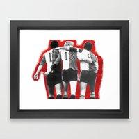 Feyenoord Rotterdam - Hand in hand kameraden Framed Art Print