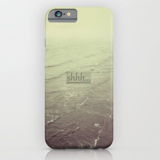 shhh iPhone & iPod Case