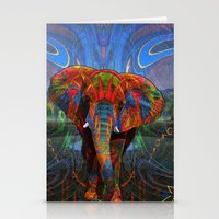 elephant Stationery Cards featuring Elephant by Waelad Akadan