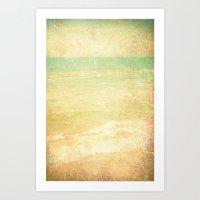 Textured Vintage Beach I… Art Print