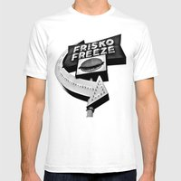 Frisko Freeze Mens Fitted Tee White SMALL