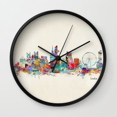 London City Skyline Wate… Wall Clock