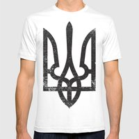 Ukraine Mens Fitted Tee White SMALL
