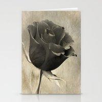 Black Rose Stationery Cards