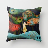 My Fascinating Friends Throw Pillow