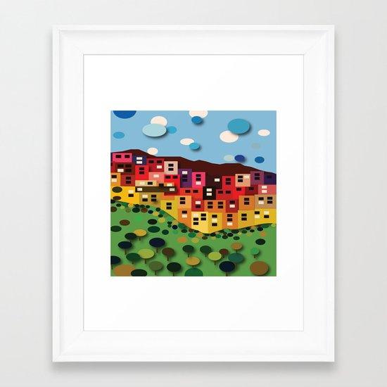 Houses On The Hill Framed Art Print