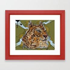 UP TIGER HEAD Framed Art Print
