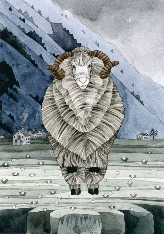 One Sheep Art Print