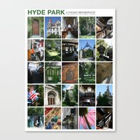Hyde Park Neighborhood Poster Canvas Print