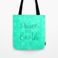 Peace On Earth. Tote Bag
