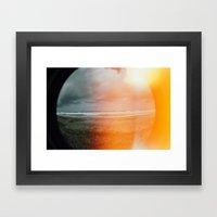 Fisheye View Of The Sea.… Framed Art Print