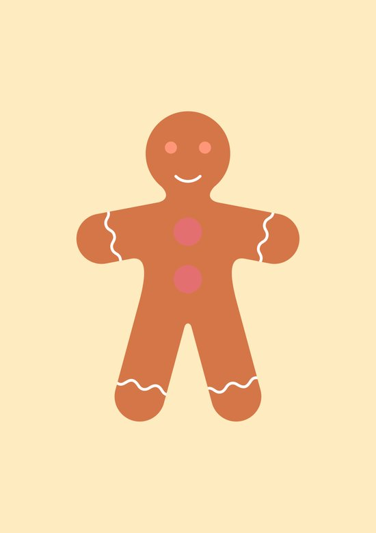 #89 Gingerbread Man Art Print