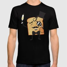 Sir Toast Makes a Toast SMALL Black Mens Fitted Tee