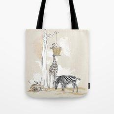 Zoo : Tigre, Zèbre, Girafe Tote Bag