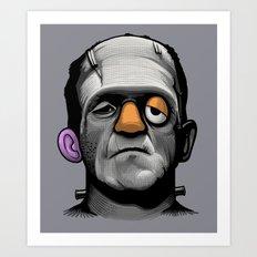Mr Frankie Head Art Print