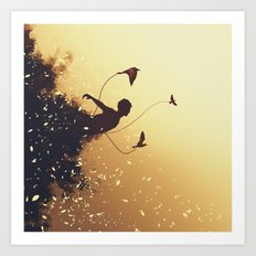 Letting Go of My Roots Art Print