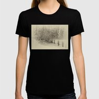 Beautiful River Grasses … Womens Fitted Tee Black SMALL