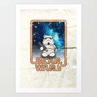 Bear Wars Vintage - Bear… Art Print