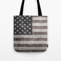 American flag - retro style desaturated look Tote Bag