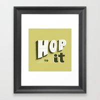 Hop To It Framed Art Print