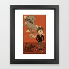 GHOST SPEECH. Framed Art Print